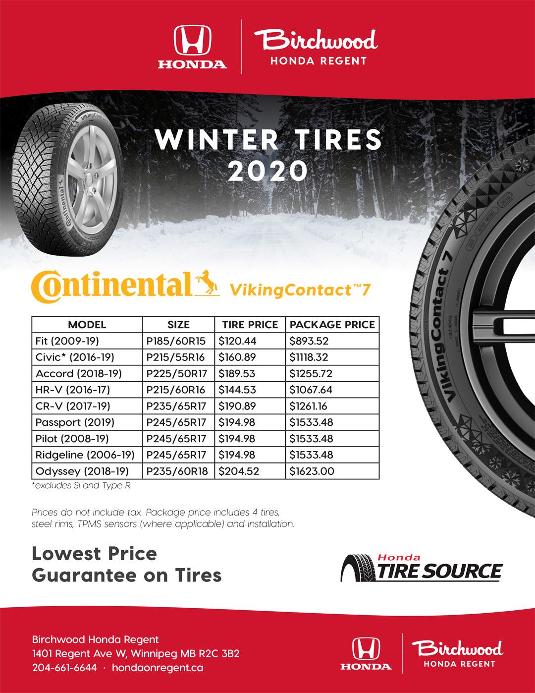 Birchwood Honda Regent Winter Tire Special