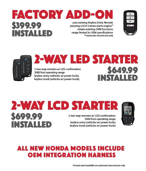 Honda Remote Starters