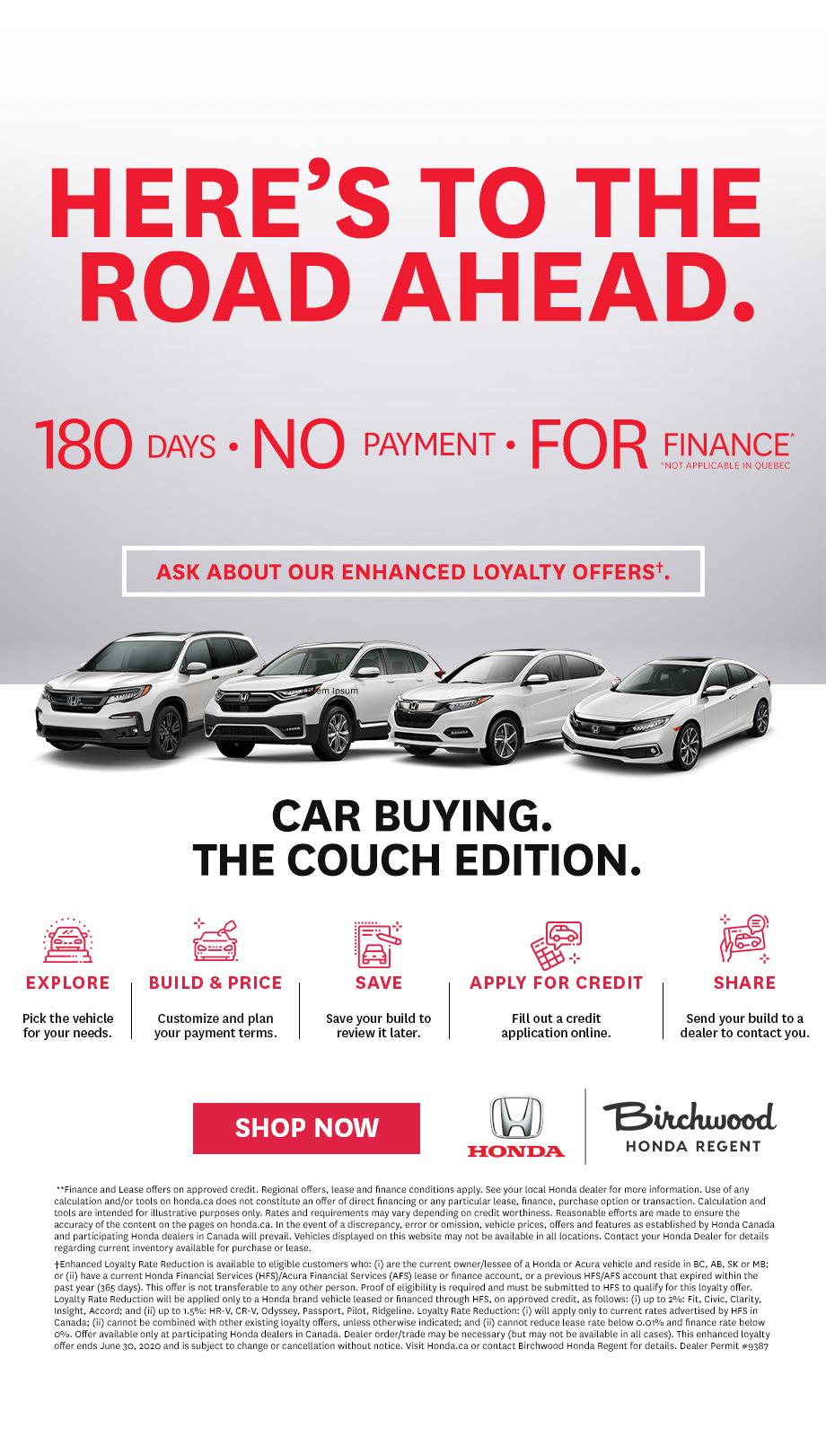 Here's To The Road Ahead Birchwood Honda Regent