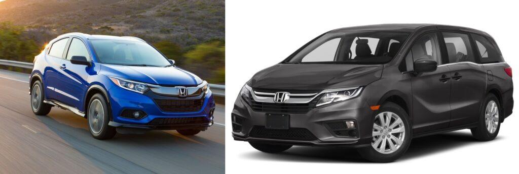 Honda Odyssey Minivan vs. Honda HR-V SUV